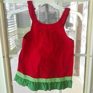 Gymboree NEW Watermelon Ruffle Tank Top sz 8